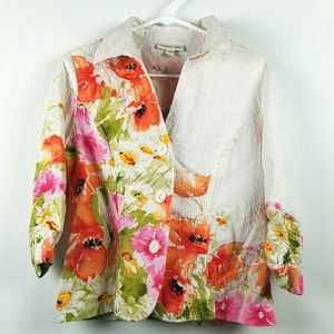 Gorgeous Spring Floral Blazer Jacket Sz 16